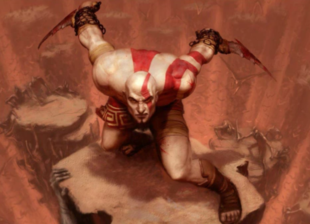 """Kratos forgets his trousers....."""