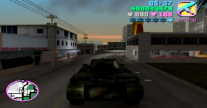 """Just cruising through the streets in a tank. What do I have to do to get arrested around here?"""